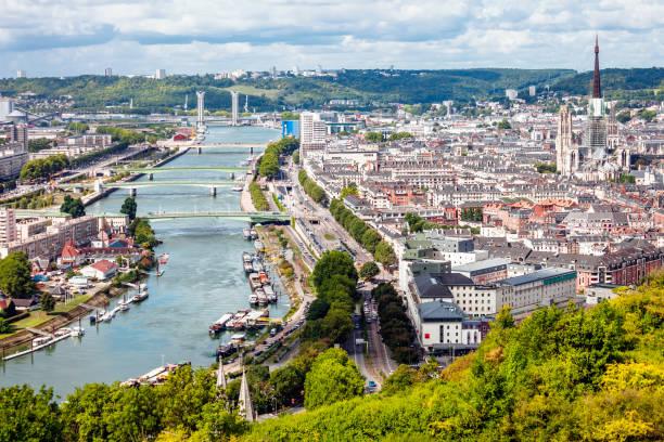 City view - Rouen, France stock photo