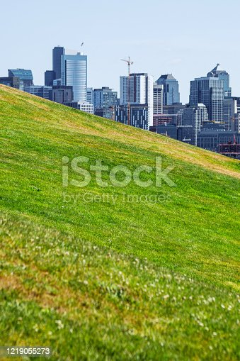 Seattle view from Gasworks park. Washington, USA