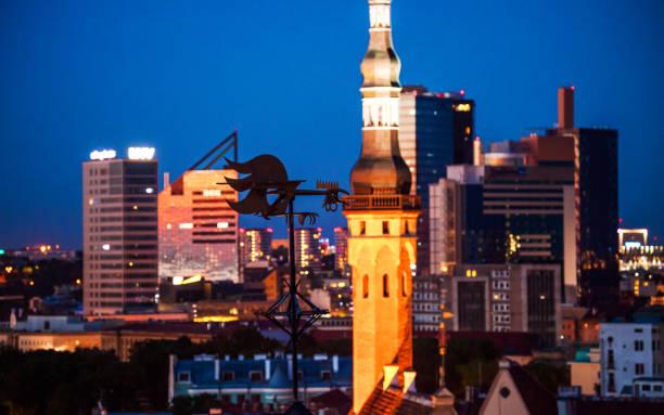 City view - Tallinn, Estonia stock photo