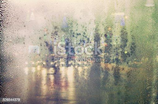 istock City view through glass. 526544379