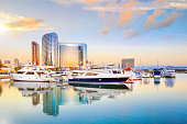 City View with Marina Bay at San Diego, California USA