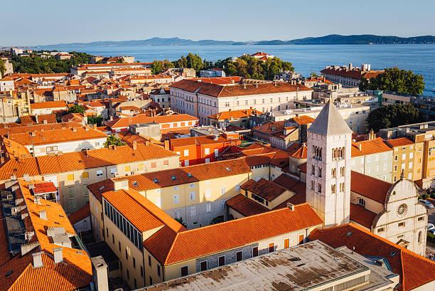 City view, Zadar, Zadar county, Dalmatia region, Croatia, Europe stock photo