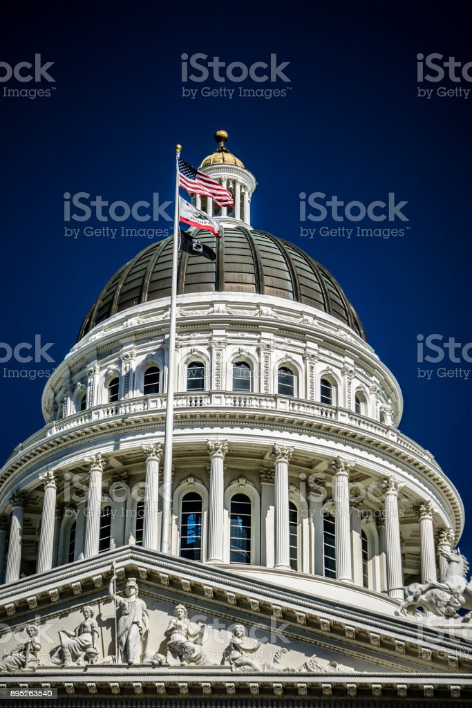 city views around california state capitol building in sacramento stock photo