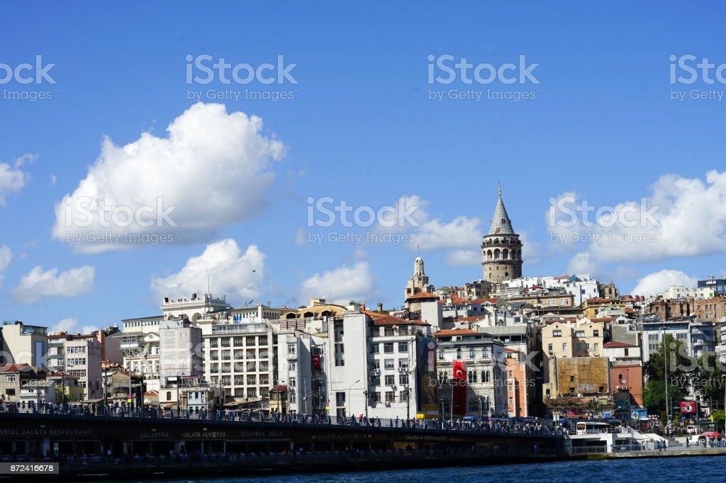 City views from sea stock photo