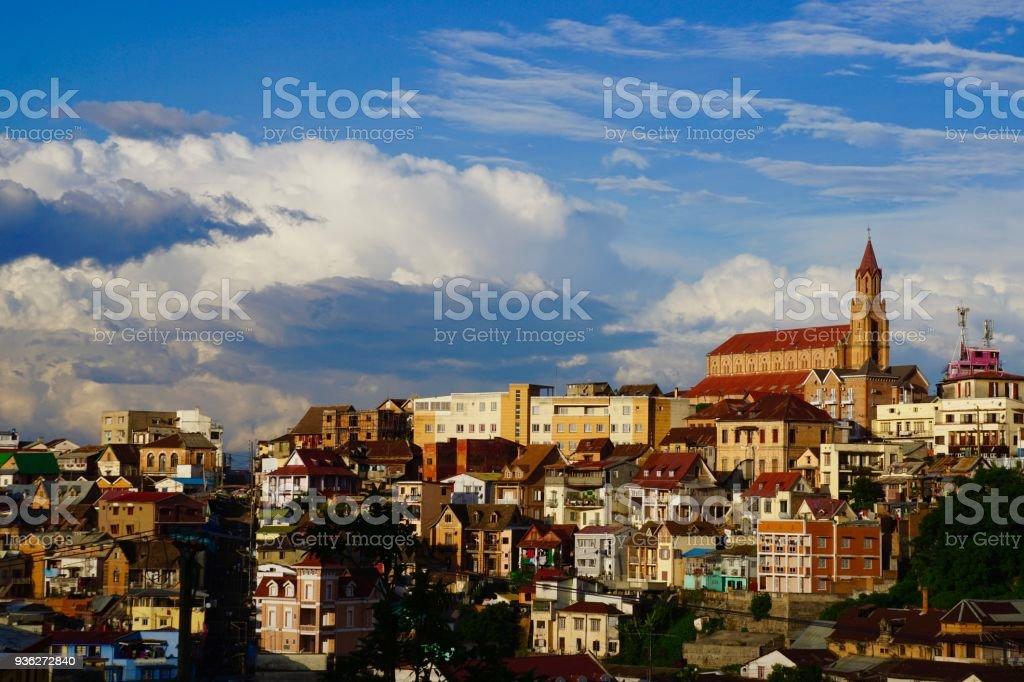 City views in Antananarivo stock photo