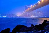 City views of New York! Manhattan island and Williamsburg bridge