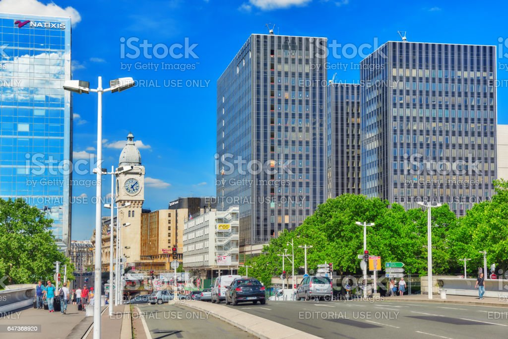 City views of one of the most beautiful cities in the world - Paris. Station Gare de Lyon is one of the oldest and most beautiful train stations in Paris. stock photo