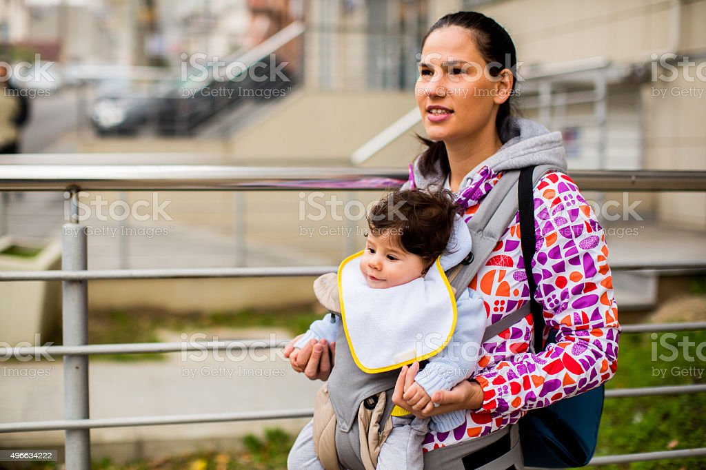 City walk stock photo