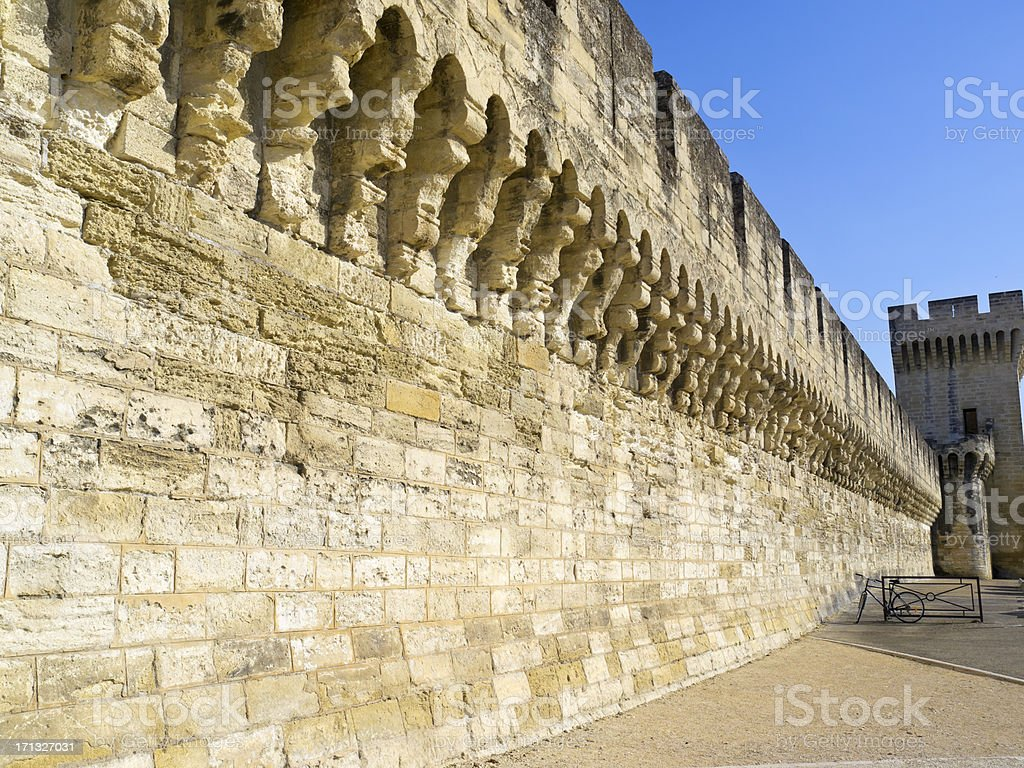 City Wall - Avignon royalty-free stock photo