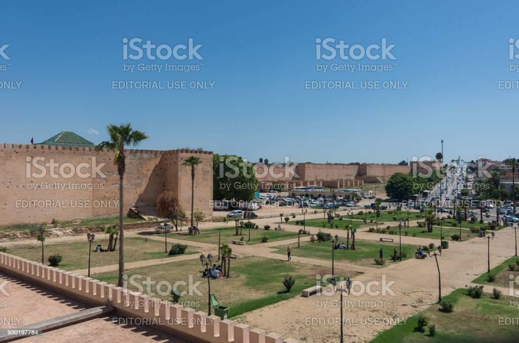 City wall in Meknes, Morocco, Africa stock photo