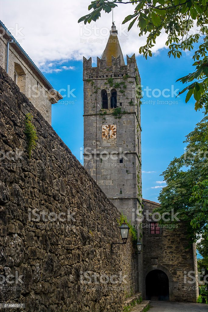 City wall of Hum, Croatia stock photo