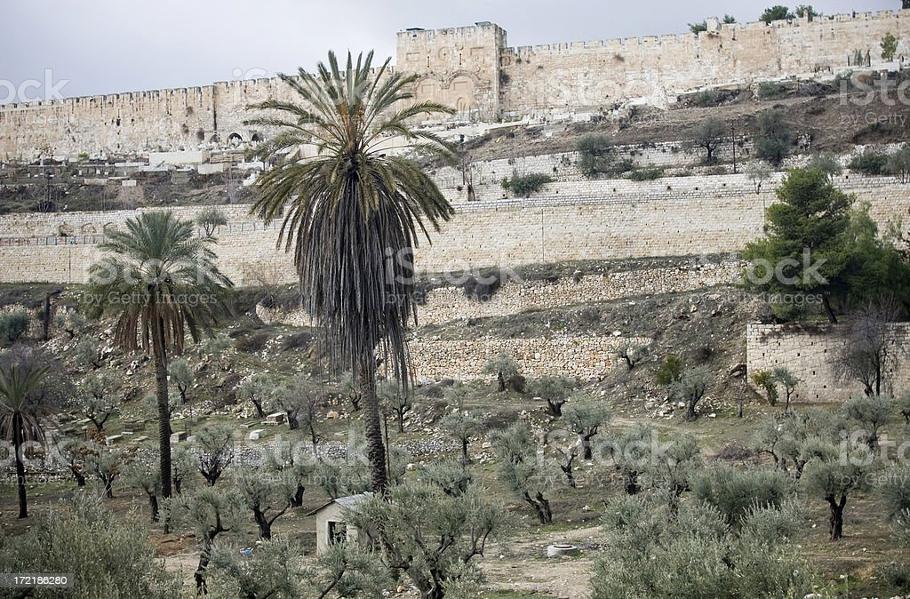 City wall of Jerusalem royalty-free stock photo