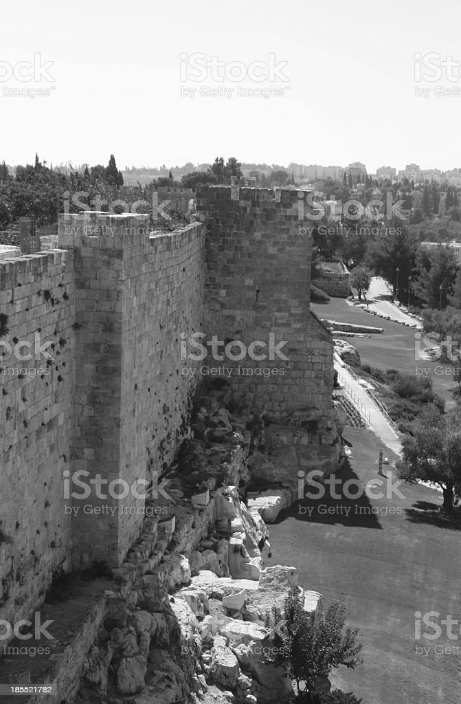 City wall of Old Jerusalem, Israel. royalty-free stock photo