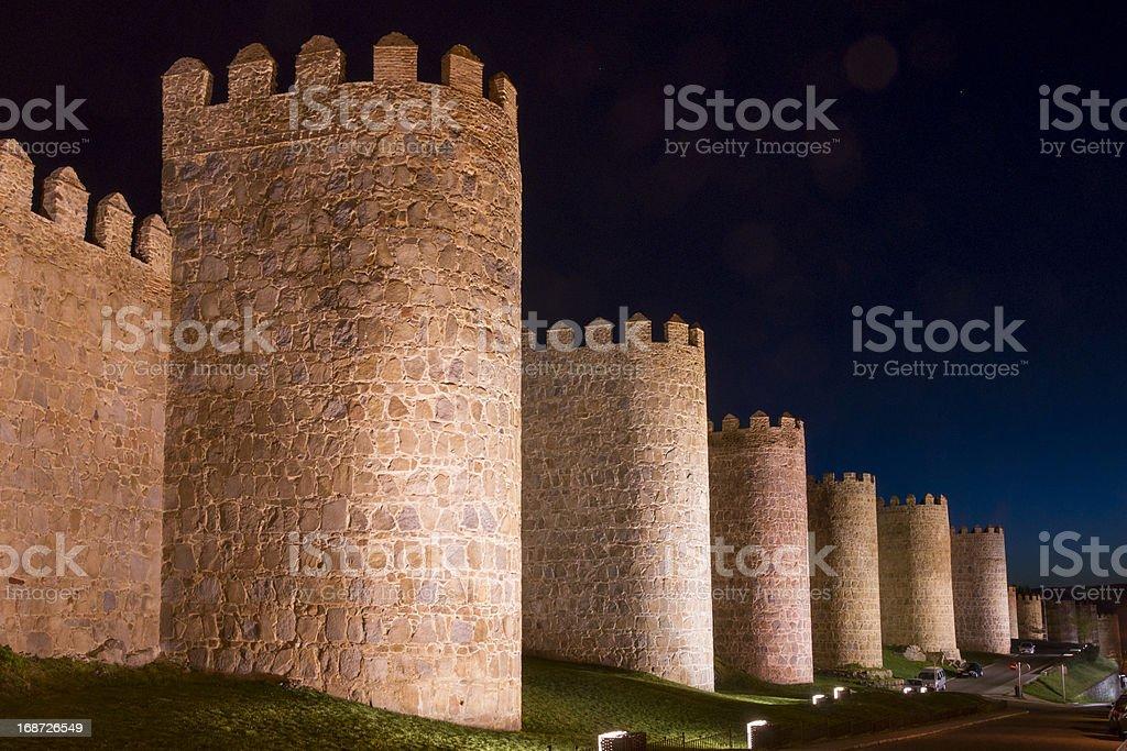 City Walls of Avila (Spain). royalty-free stock photo