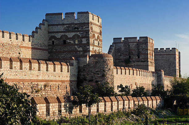 City walls of Istanbul, Turkey stock photo