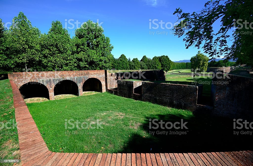 City Walls of Lucca stock photo