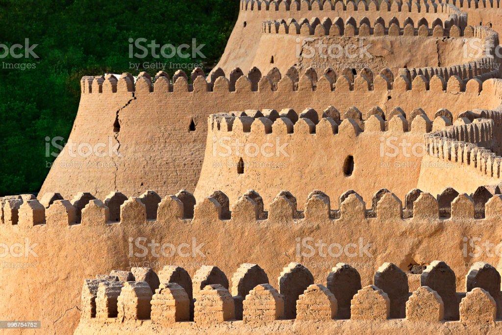 Ancient city walls of Khiva, Uzbekistan