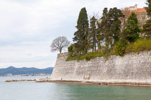 City walls of Zadar stock photo