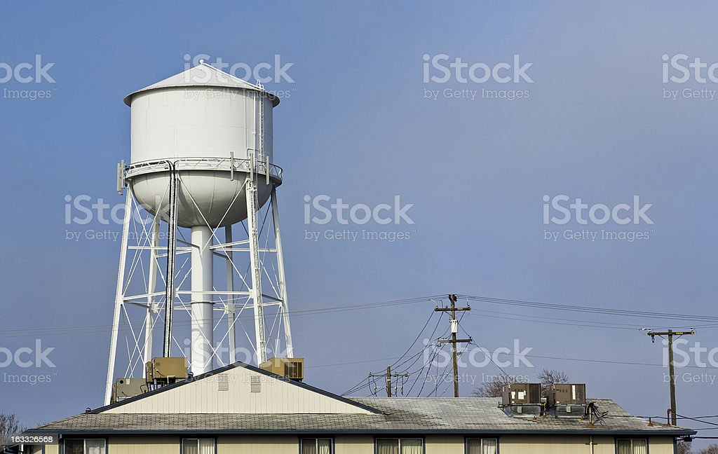 City Water Tower royalty-free stock photo