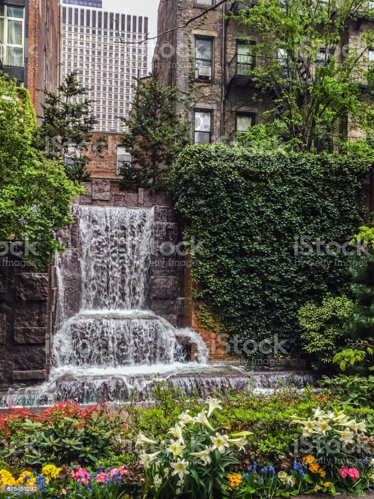 City Waterfall in the Park royalty-free stock photo