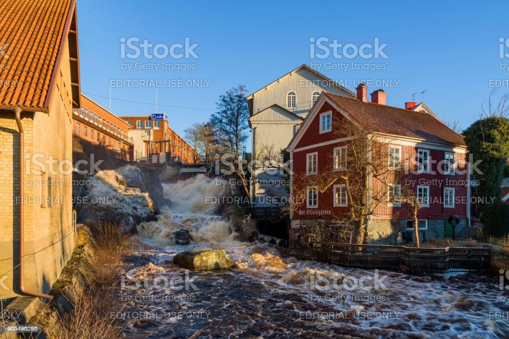 City waterfall stock photo