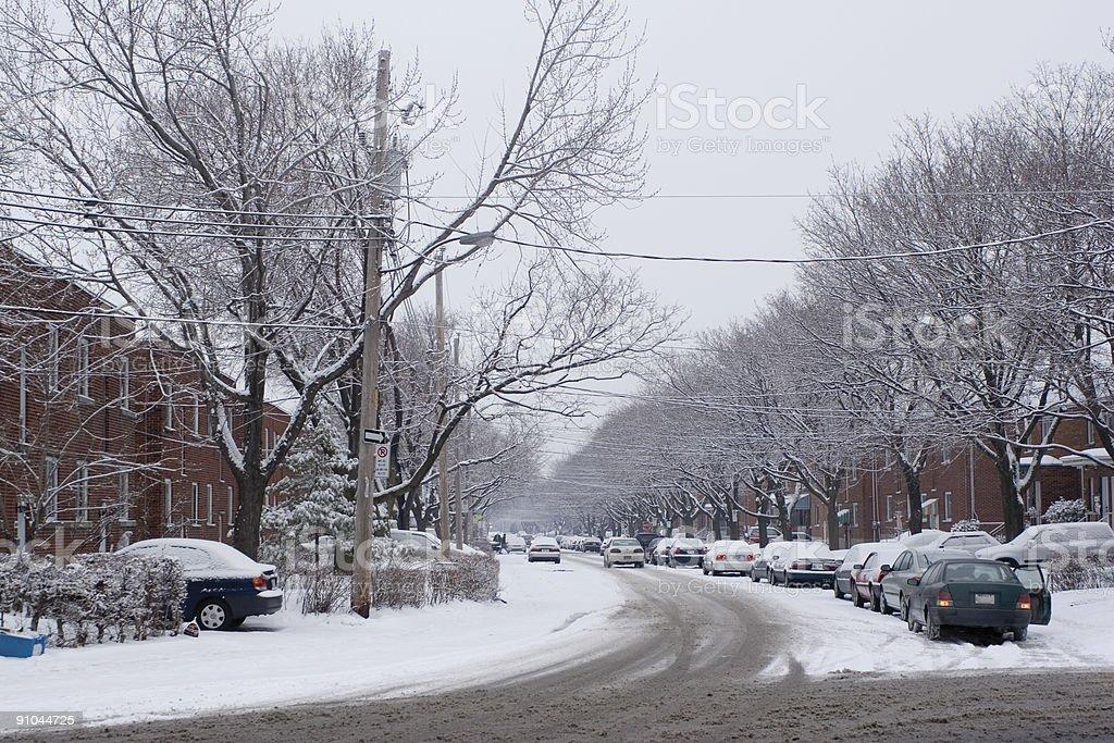 City winter scene royalty-free stock photo