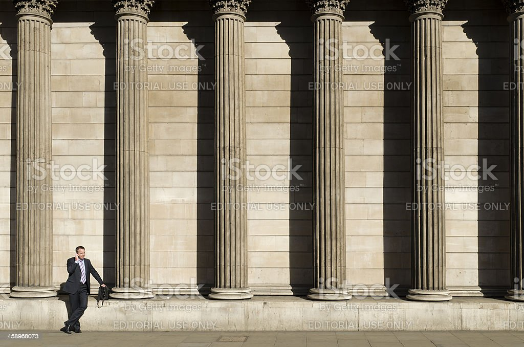 City worker, Bank of England, London stock photo