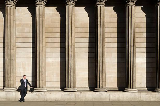 Stadt Arbeiter, der Bank of England, London – Foto