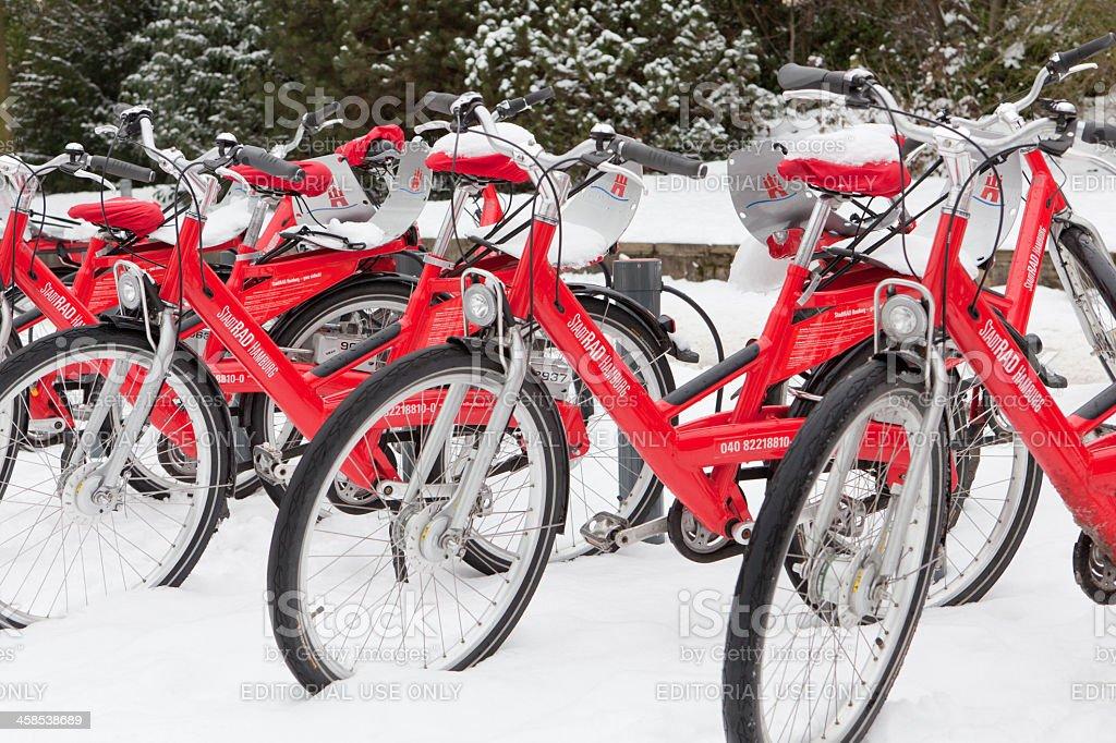 City-Bikes royalty-free stock photo