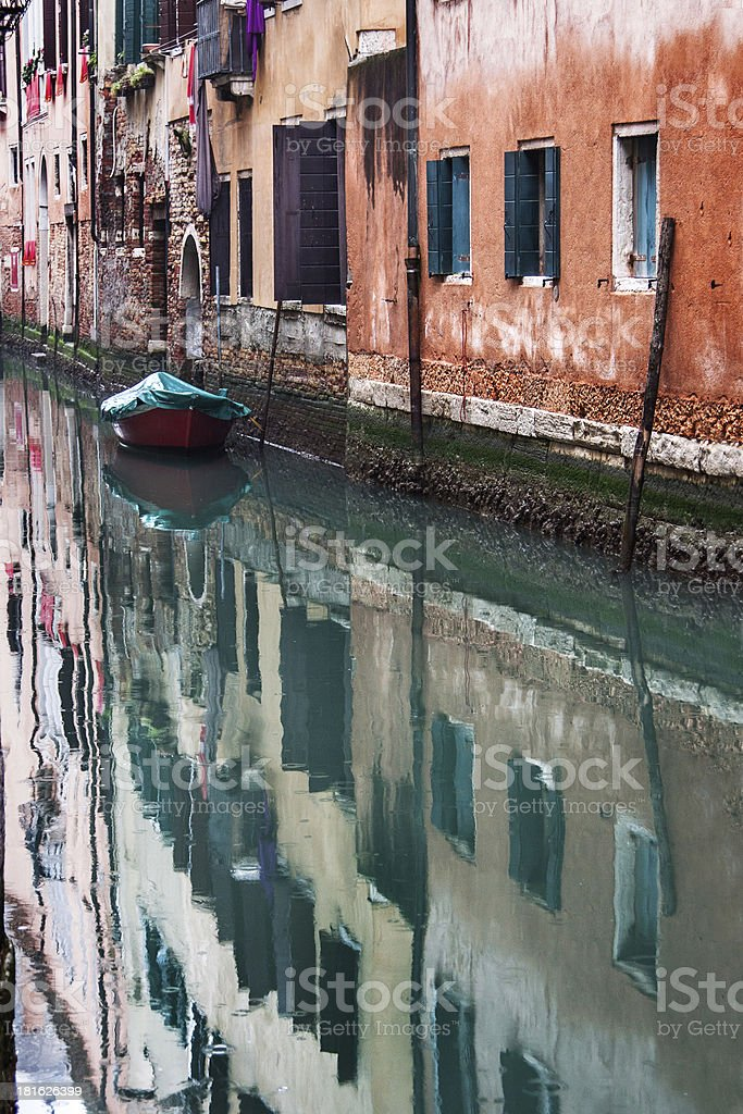 Citycsape with canal royalty-free stock photo