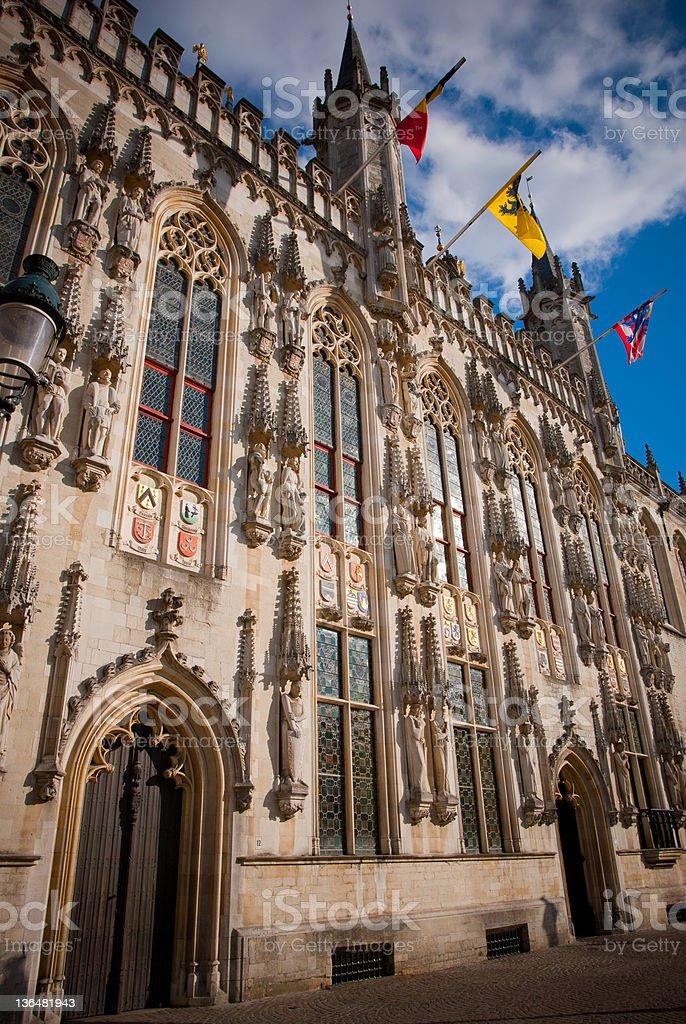 Cityhall Brugge royalty-free stock photo