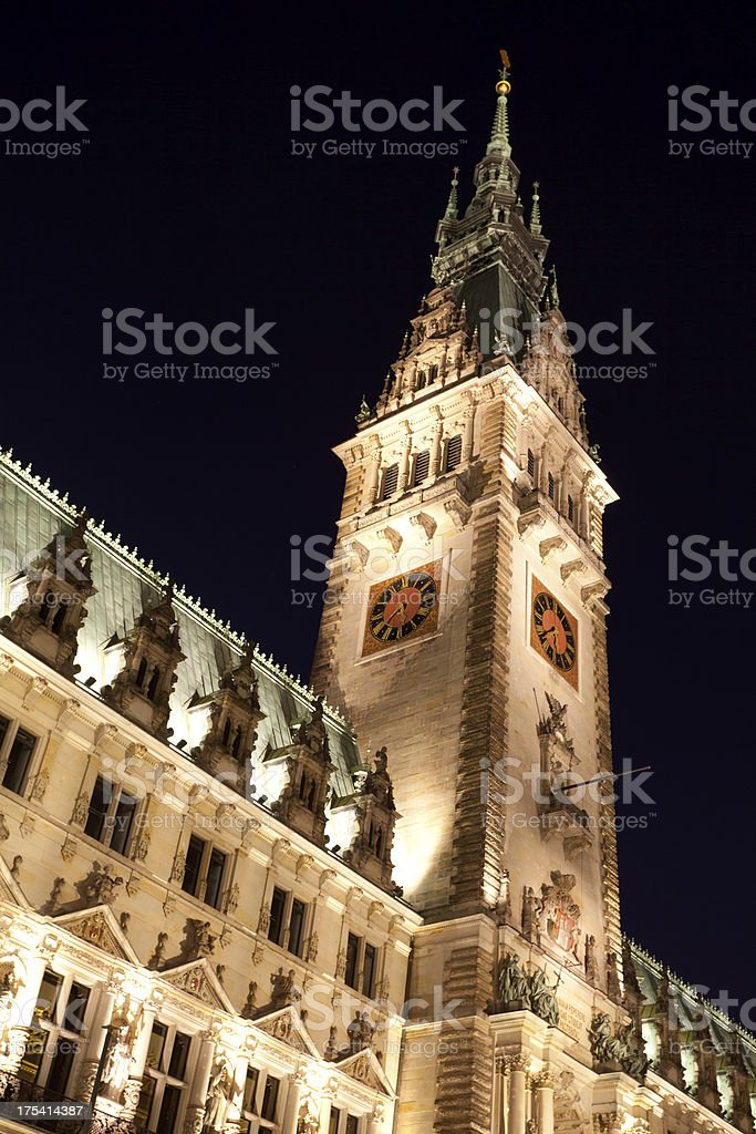Cityhall of Hamburg stock photo