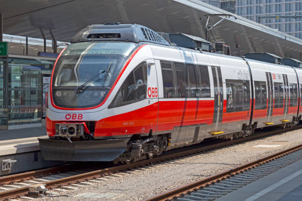 Cityjet in Wien Hbf stock photo