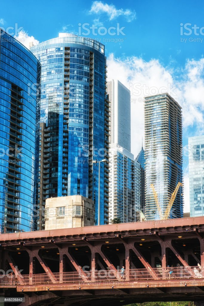 Citylife Chicago, Illinois, USA stock photo