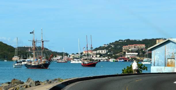Citylife in Charlotte Amalie,  St. Thomas stock photo