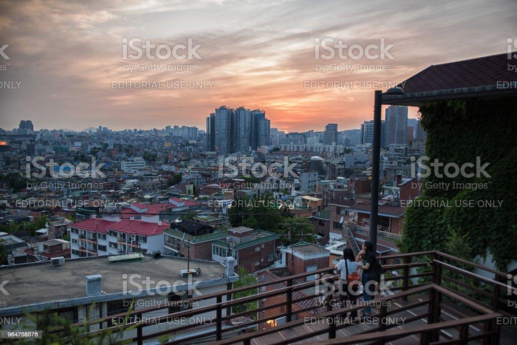 Citylife Seoul royalty-free stock photo