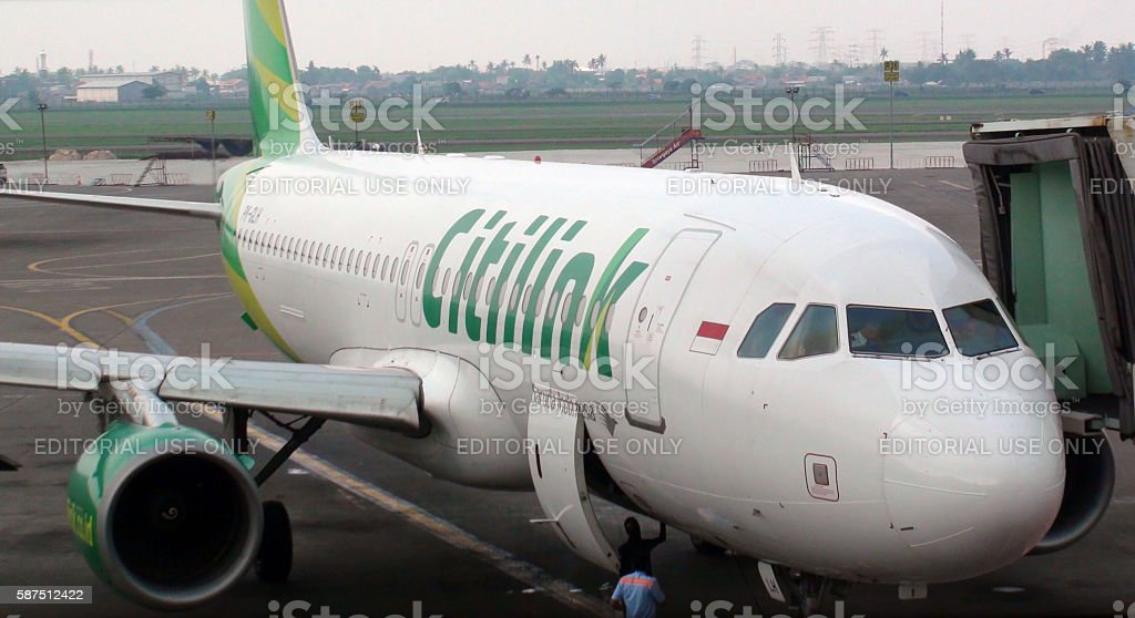 Citylink Airplane Parked At Loading Gate Of Jakarta Airport.Indonesia.Asia stock photo