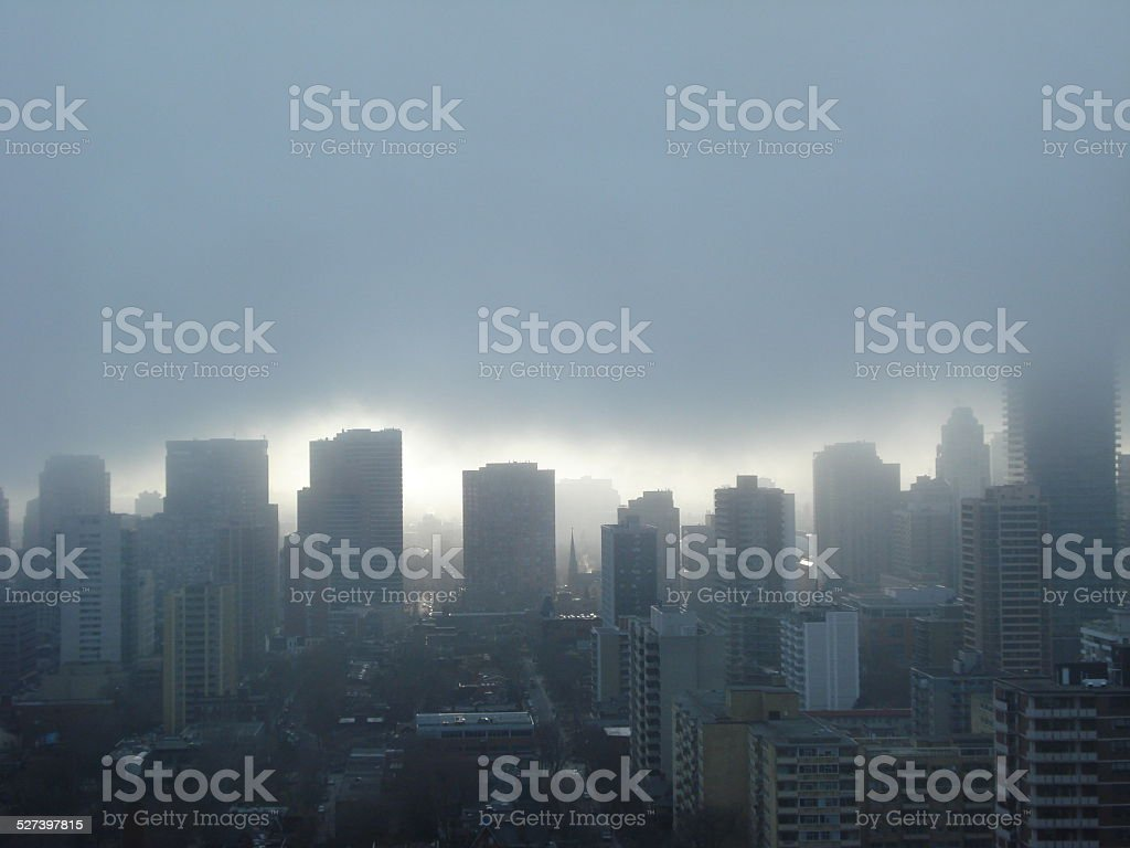Cityscape after Storm stock photo