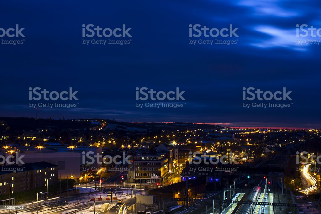 Cityscape at night royalty-free stock photo