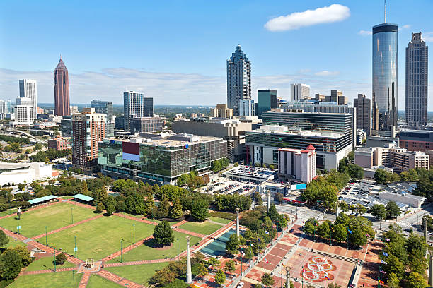 Cityscape: Atlanta Georgia Skyline Daytime stock photo