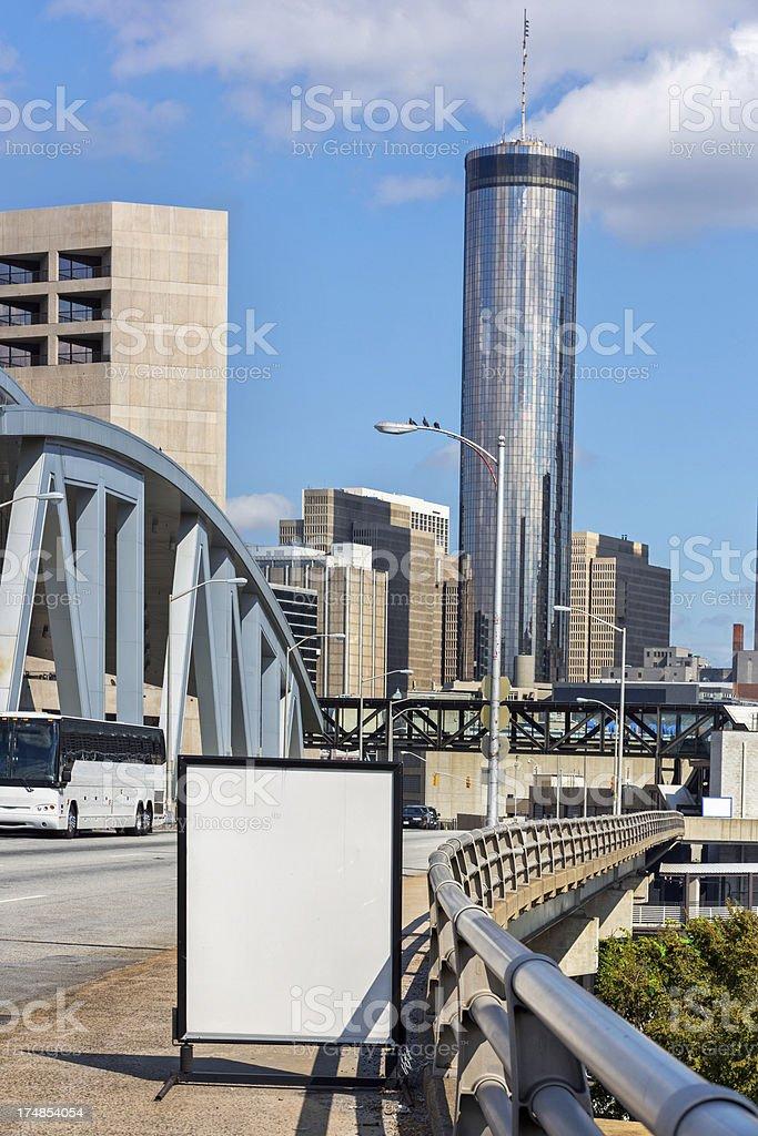 Cityscape: Atlanta Georgia Skyline Daytime royalty-free stock photo