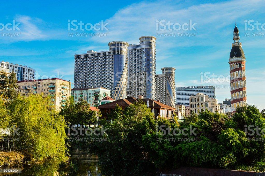 Cityscape Batumi stock photo