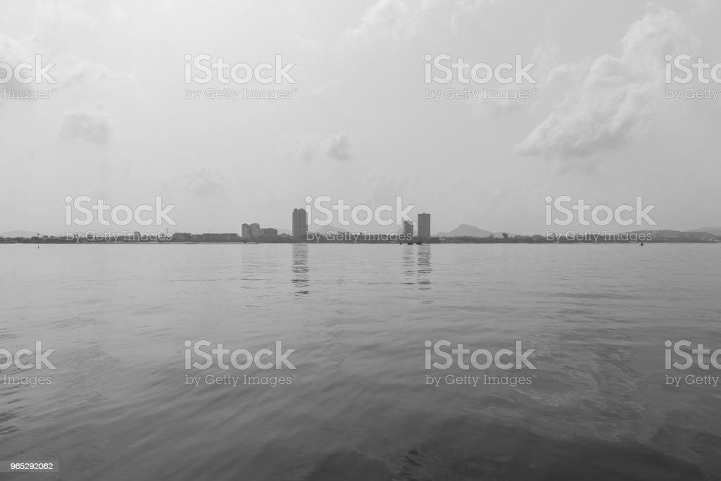 Cityscape black and white style. royalty-free stock photo
