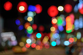 Image of Cityscape Bokeh background at twilight time.