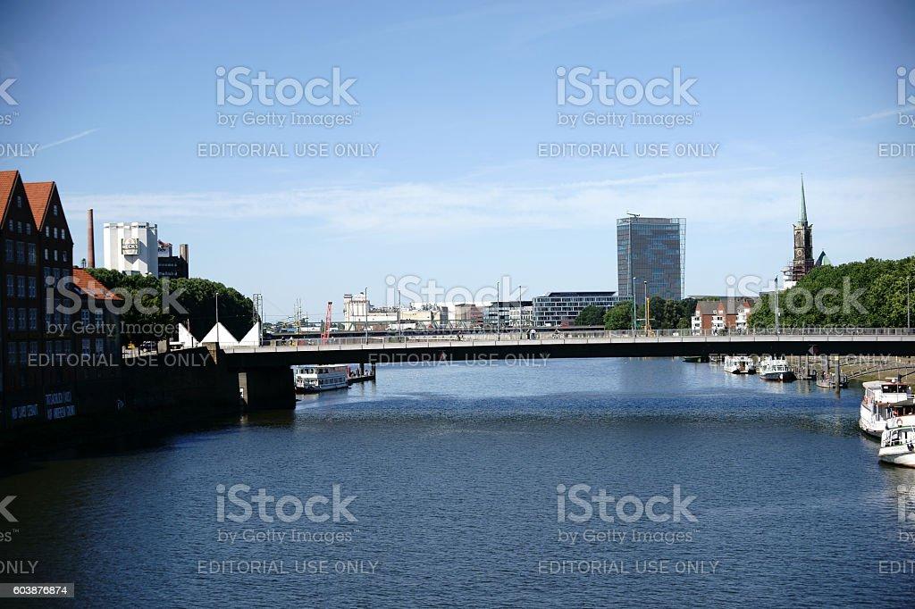 Cityscape Bremen stock photo