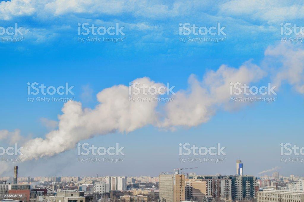 Cityscape Bucharest stock photo