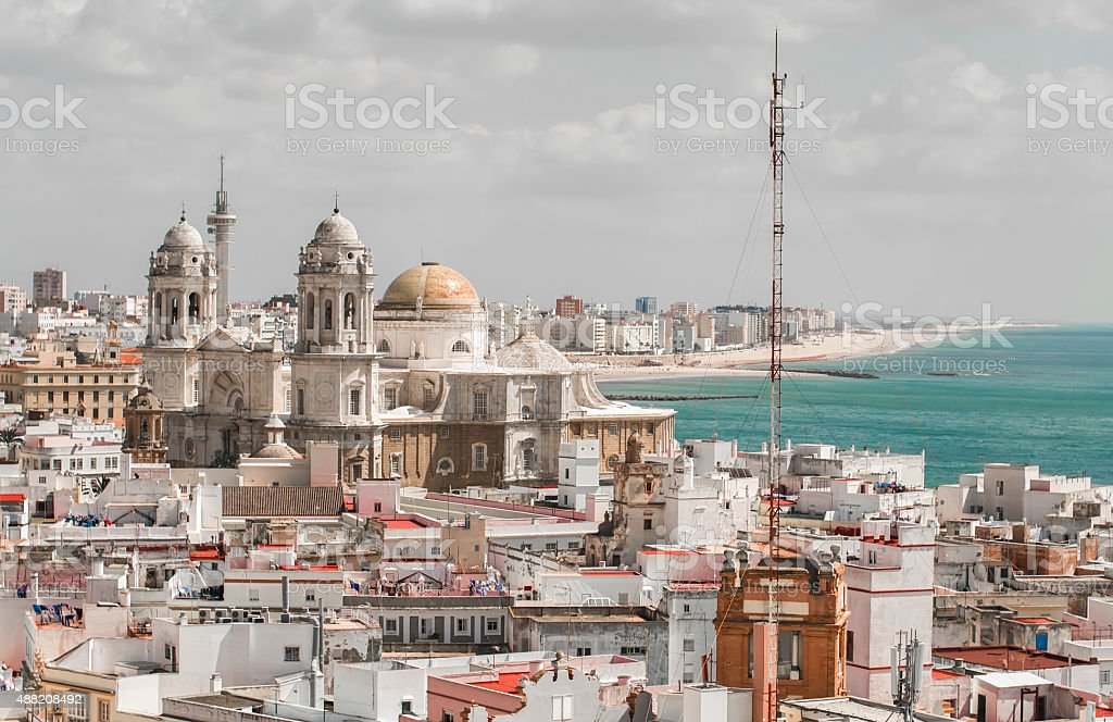 cityscape, Cadiz, Spain stock photo