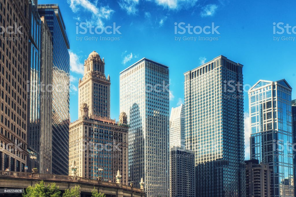 Cityscape Chicago Illinois, USA stock photo