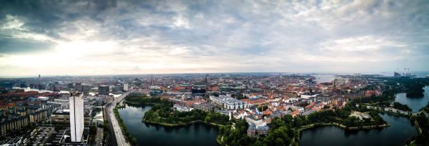 stadsbilden copenhagen - drone copenhagen bildbanksfoton och bilder