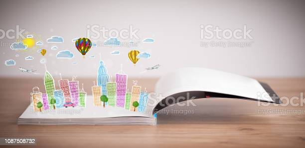 Cityscape drawing on open book picture id1087508732?b=1&k=6&m=1087508732&s=612x612&h=5frclewaq4pcvdi9jbovmlzv4qy5opuiv3ul1pp3dpk=